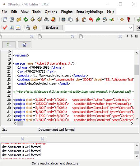 xml validating parser free download