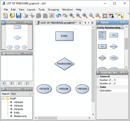 5 best free er diagram creator software for windows yed graph editor is quite a popular software to create different types of diagrams including computer network flowchart uml bpmn sbgn etc ccuart Image collections